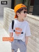 左西男童短袖T恤純棉夏季2020新款兒童半袖體恤韓版夏裝中大童潮 歐歐