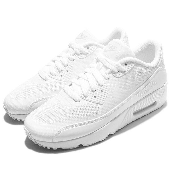 Nike 休閒慢跑鞋 Air Max 90 Ultra 2.0 GS 白 全白 氣墊 女鞋 大童鞋【PUMP306】 869950-100