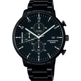 ISSEY MIYAKE 三宅一生 C系列計時手錶-黑/42mm VD57-0620SD(NYAD008Y)