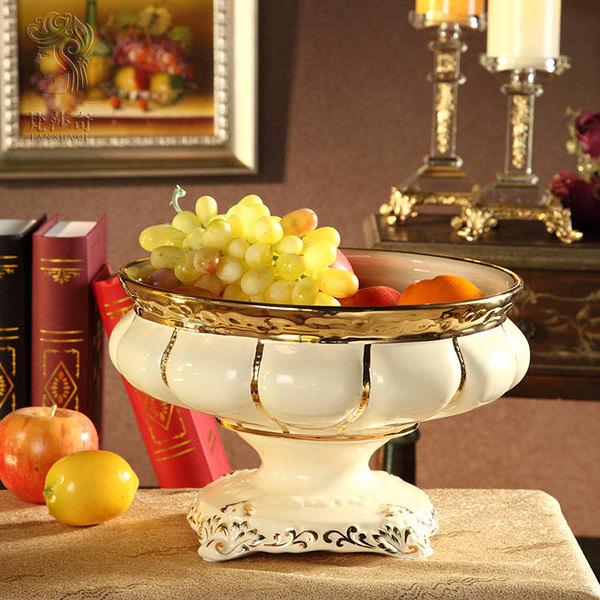 歐式手工陶瓷果盤  奢華家居