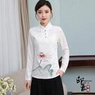 中國風改良式漢服 唐裝女民族風女裝 茶服 禪服女 復古上衣 萬聖節鉅惠