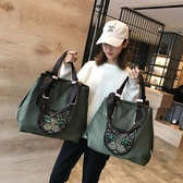 健身包網紅旅行包女韓版短途手提袋行李包旅游大容量輕便運動健身側背包 雲朵走走