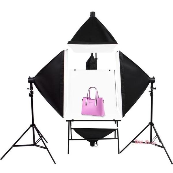 攝影棚 小型攝影棚套裝補光燈柔光箱攝影燈靜物拍攝台室內簡易拍照燈拍攝燈攝影道具器材T