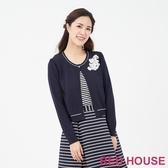 【RED HOUSE 蕾赫斯】蕾絲假兩件針織衫(藍色)