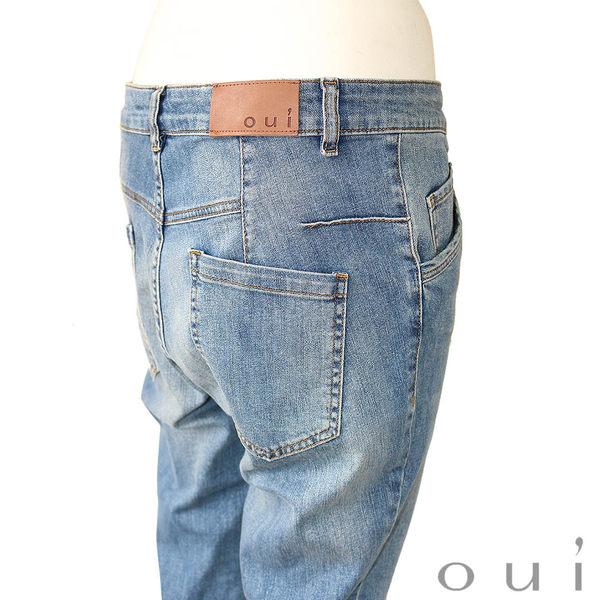 oui 刷色袴褲版牛仔褲(中大尺碼)