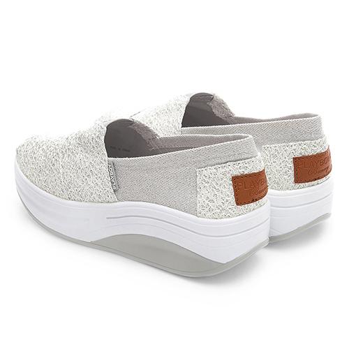 PLAYBOY 玩美拼接亮蔥 輕量休閒鞋-白(Y5308)