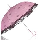 特惠-《真心良品》2264雙色膠內外印刷蕾絲自動傘
