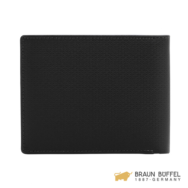 【BRAUN BUFFEL】EDISON 艾迪森系列12卡中間翻透明窗短夾 -黑色 BF340-317-BK