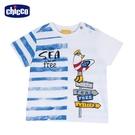 chicco-快樂夏天-印條紋海鷗短袖上衣