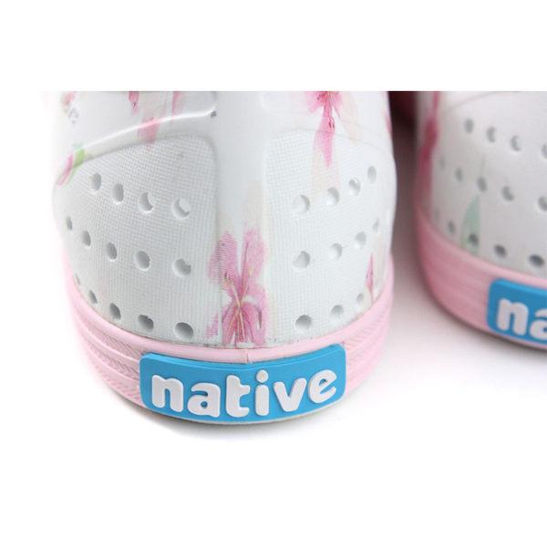 native JERICHO PRINT 洞洞鞋 休閒鞋 白色 花卉 女鞋 11300401-8812 no920