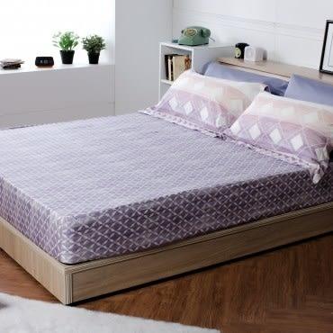 HOLA home 曼芮印花床包枕套組 加大