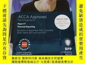 二手書博民逛書店ACCA罕見Approved practice and Revision kit paper F7:ACCA認可練