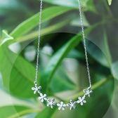 項鍊 925純銀鑲鑽吊墜-精美有型生日情人節禮物女飾品2色73gj39【時尚巴黎】