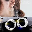 《Caroline》★韓國熱賣造型時尚Bling  Bling 絢麗閃亮動人滿鑽耳環70168