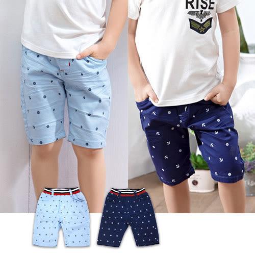 【錢豪童裝童鞋】船錨平織五分褲(85~125cm)