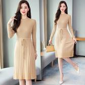 洋裝 6008#毛衣連身裙打底衫女HF303快時尚
