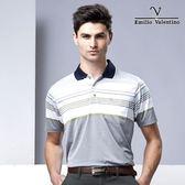 Emilio Valentino 樂活機能涼感POLO衫 - 藍領灰綠