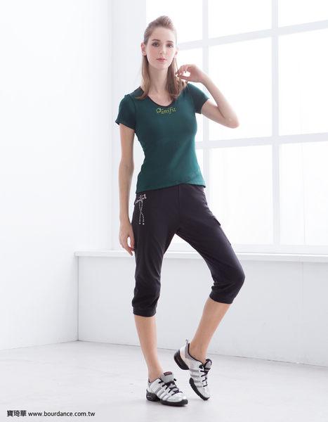 *╮寶琦華╭*台灣製造  專業瑜珈韻律芭蕾★口袋束口七分褲【D16322】