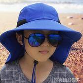 遮陽帽親子帽夏兒童遮陽帽男寶女春秋防紫外線太陽帽漁夫 貝芙莉