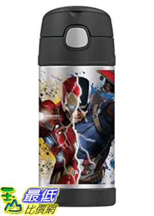 [美國直購] Thermos 美國隊長3:英雄內戰 兒童保溫水壺 Funtainer 12 Ounce Bottle Captain America Civil War