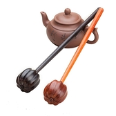 按摩用品 紫光檀烏木南瓜頭造型按摩捶敲背錘保健錘沉水黑檀天然實木紅木槌