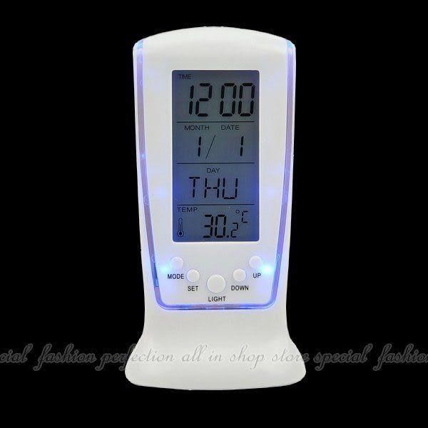 【DB429】LED鬧鐘510 藍光萬年曆電子鐘 大數字時鐘 倒數計時器 溫度計★EZGO商城★