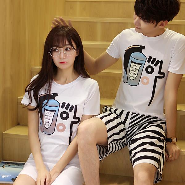 24小時快速出貨  潮T情侶裝  純棉短T MIT台灣製【Y0311】短袖-臉 可單買 男女可穿