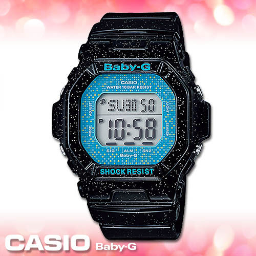 CASIO卡西歐 手錶專賣店  Baby-G BG-5600GL-1D 女錶 夏日風 礦物玻璃 防水100米 閃耀星空錶帶