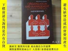 二手書博民逛書店organization罕見and management a s