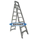 美國Werner穩耐安全鋁梯-DP408AZ 鋁合金兩用梯(梯長2.4m 荷重150公斤)    直梯 A字梯 直馬梯