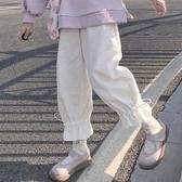 寬管褲 日繫可愛百搭休閒褲褲子女秋冬2020新款寬鬆韓版學生白色褲闊腿褲 韓國時尚週