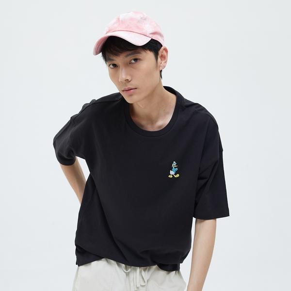 Gap男女同款 Gap x Disney 迪士尼系列純棉厚磅短袖T恤 701568-黑色