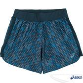 ASICS亞瑟士 女慢跑短褲(深藍) 吸汗速乾 反光機能設計