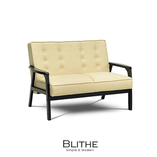 沙發 雙人沙發 Blithe立方皮雙人沙發(LS/CAD-002-10雙人立方皮沙發)【DD House】時尚家居