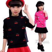 毛衣-童裝女春秋款女童毛衣套頭針織衫秋冬款加厚打底衫中大童兒童上衣 Korea時尚記