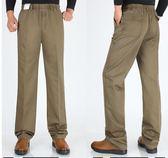 中老年人純棉鬆緊腰男褲加肥加大碼寬鬆休閒褲高腰爸爸裝加絨長褲 依凡卡時尚