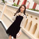 【618好康又一發】春秋連身裙女秋冬打底裙子兩件套時髦套裝裙