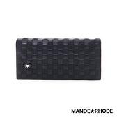 MANDE RHODE - 巴弗洛 - 質感真皮訂製格紋長夾 - 86345-C