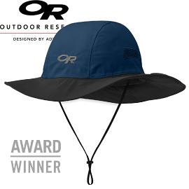 【Outdoor Research 美國 SEATTLE SOMBRERO 防水透氣大盤帽 藍/黑】243505CA/大盤帽 /圓盤帽/登山健行