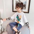 女童長袖T恤2020秋裝新款中大童洋氣上衣女孩春秋寬鬆兒童打底衫  【端午節特惠】