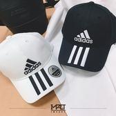 IMPACT Adidas 6P 3S Cap Cotto 老帽 黑白 電繡 三線 男女可戴 DU0196 DU0197