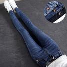 高腰牛仔褲女長褲緊身彈力顯瘦顯高黑色小腳褲2021新款修身鉛筆褲 夏季新品