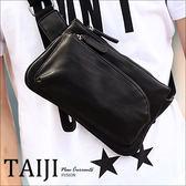 側背包【NXA8076】日韓風格‧造型圓弧拉鍊皮革側背包‧一色‧