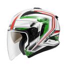 【東門城】ZEUS ZS613B AJ6 (白綠) 半罩複合式越野帽 雙層鏡片