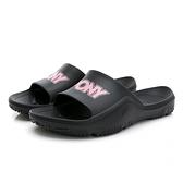 PONY PARK-X中性款黑色運動拖鞋-NO.02U1FL04BK