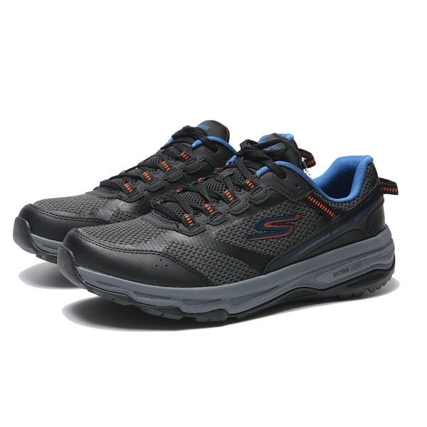 SKECHERS 慢跑鞋 GO RUN TRAIL ALTITUDE 黑 橘藍 編織 皮革 拼接 男 (布魯克林) 220111BKOR