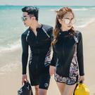Qmigirl 泳裝【WET010】情侶衝浪浮潛防曬長袖外套女三件套 泳衣 溫泉 沙灘 BIKINI