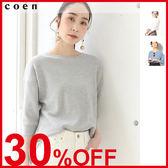 出清 華夫格T恤 鬆餅織 免運費 日本品牌【coen】