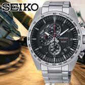 SEIKO日本精工型男競速計時腕錶8T67-00H0D/SSB319P1公司貨