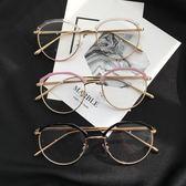 金屬復古眼鏡框架潮流圓形平光鏡女款大框·皇者榮耀3C旗艦店